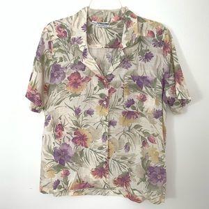 VTG '90s Alfred Dunner Hawaiian blouse - size 14